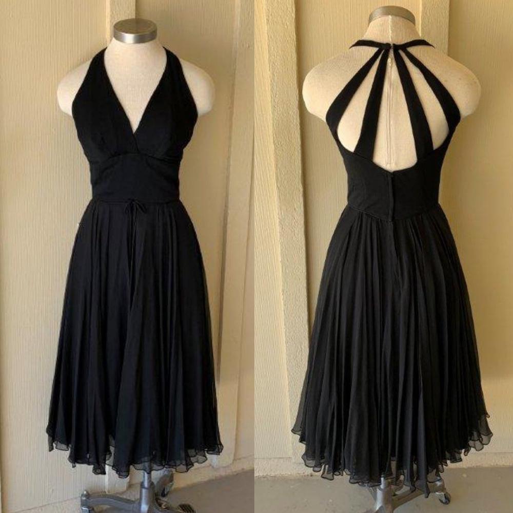 1960 S Vintage Cocktail Dress Vintage Hollywood Black Etsy Cocktail Dress Vintage Black Chiffon Halter Dress Chiffon Halter Dress [ 999 x 1000 Pixel ]