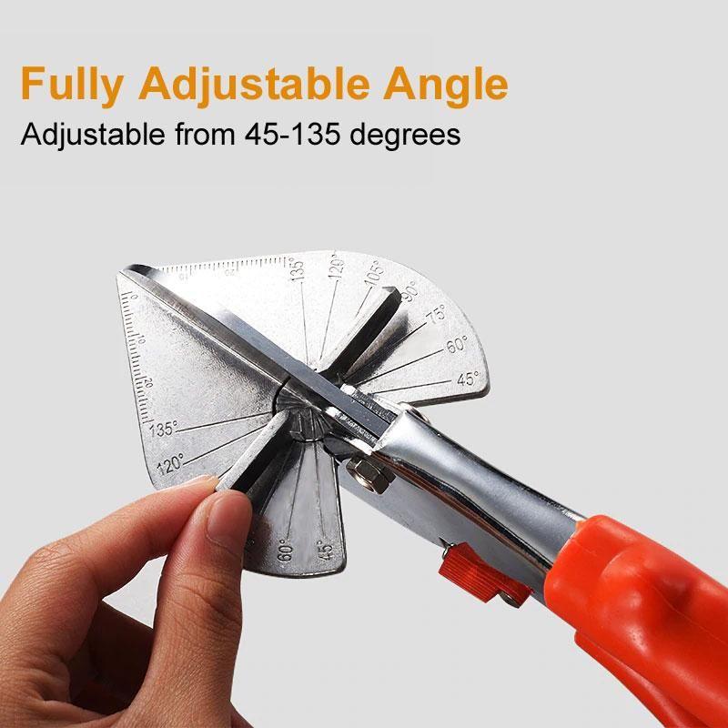 Adjustable 45°-135° Multi Angle Miter Scissor PVC Strip PE Plastic Trim Cutter