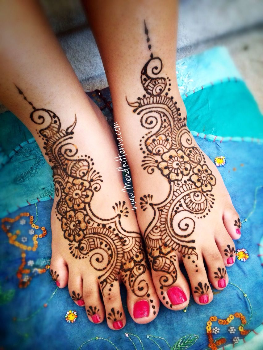 Mehndi Foot Tattoos Designs : Henna feet body ink and piercings pinterest