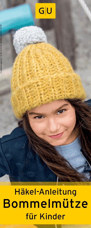 Praktische Häkel Anleitung Für Eine Warme Bommelmütze Für Kinder