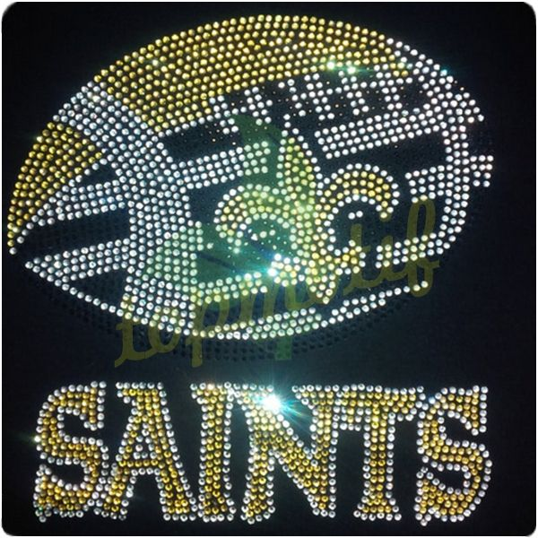 Bling Iron New Orleans Saints Football Custom Rhinestone Transfers ... fb16d0e7b781