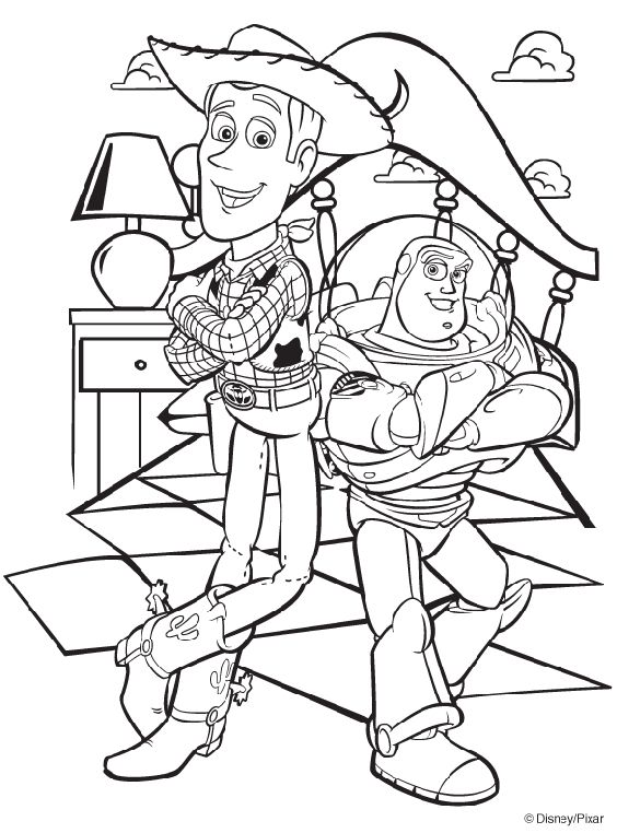 Toy story coloring book for entertainment | Party | Pinterest ...