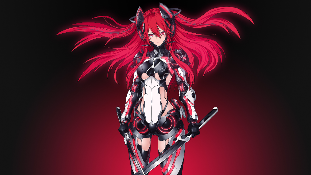 Mecha Girl Red Edition 4k Uhd 2560x1600 2560x1440 Anime Wallpaper Cool Anime Wallpapers Hd Anime Wallpapers