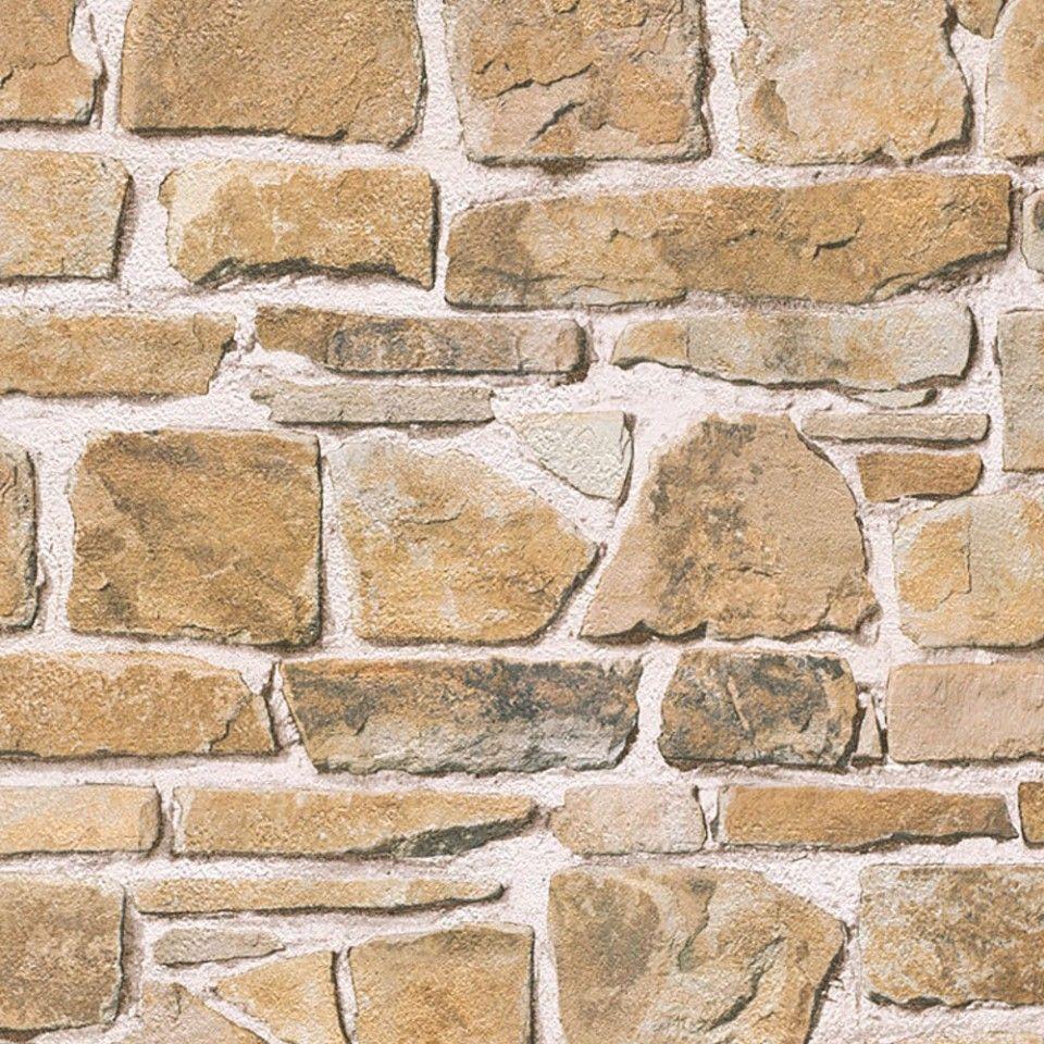 Papel pintado imitaci n piedra marr n claro pdd521265606 im genes nacimientos portal 2018 - Imitacion piedra pared ...