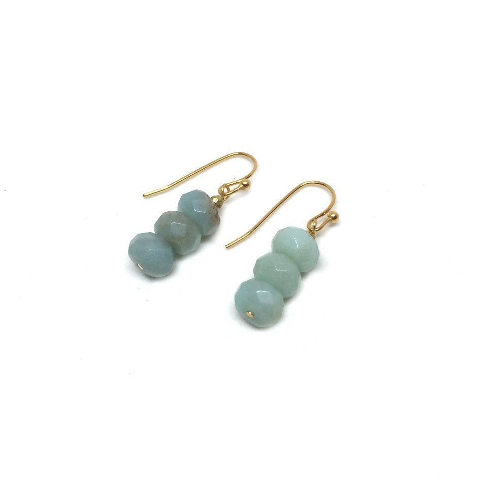 Amazonite Stack Earrings | Mint