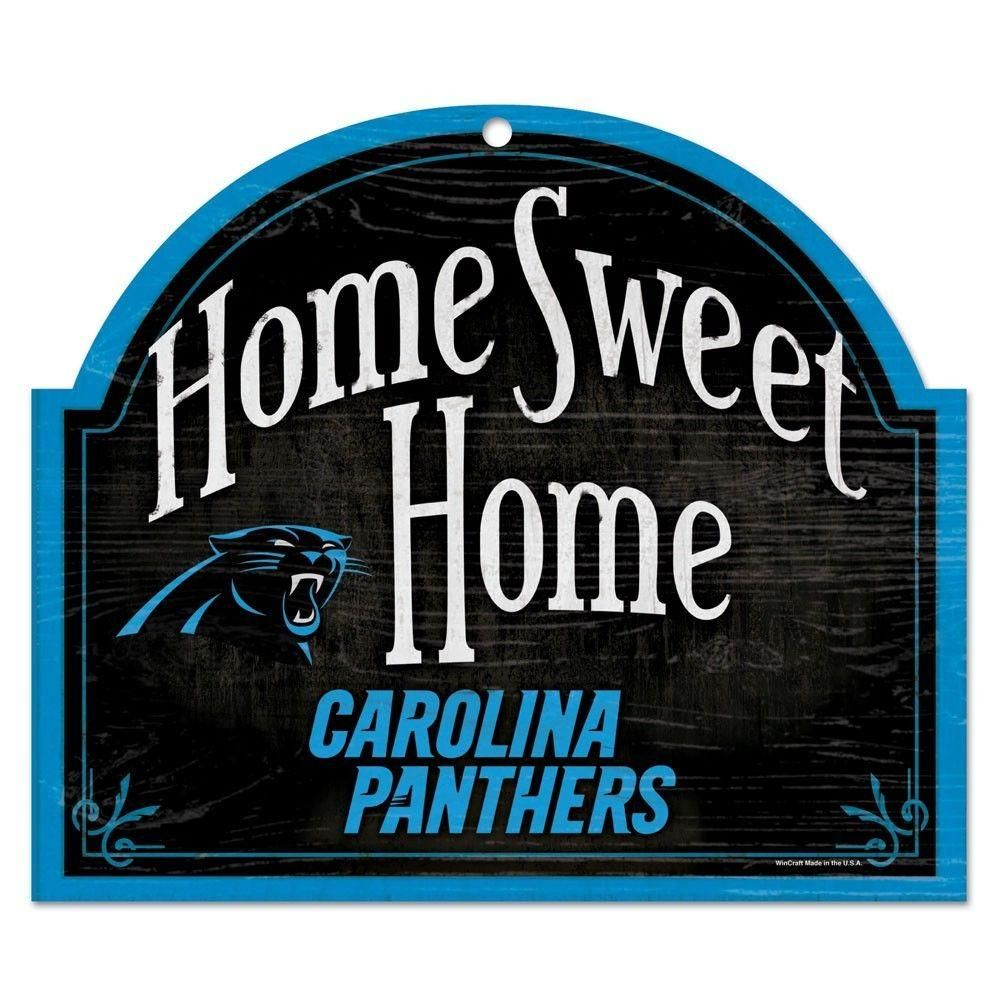 Carolina panthers home sweet home arched wood sign 10x11
