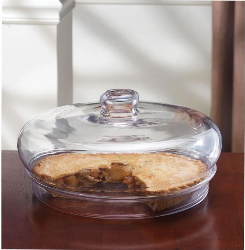 Glass pie plate with dome i need one with a lock on it