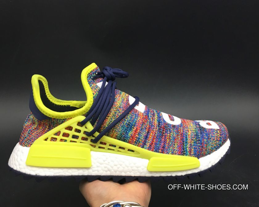 e000aca04 Pharrell X Adidas NMD Hu Trail Noble Ink Bold Yellow Ftwr White Discount