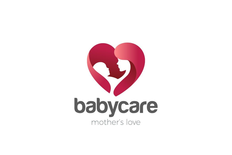 Heart Mother Care Love Child Negative Space Logo Template AI 33c4c1f54d2fe
