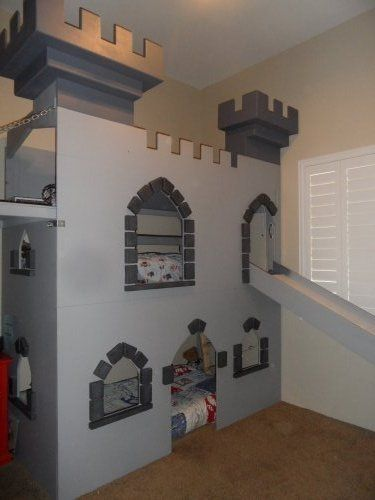 Amazing Custom Castle Bed/Bunkbed/ Playhouse