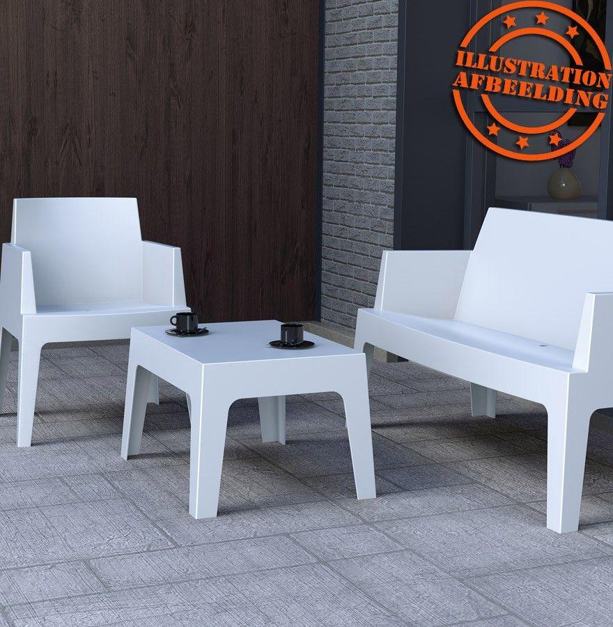 Chaise design PLEMO XL - Banc de jardin blanc en matière plastique ...