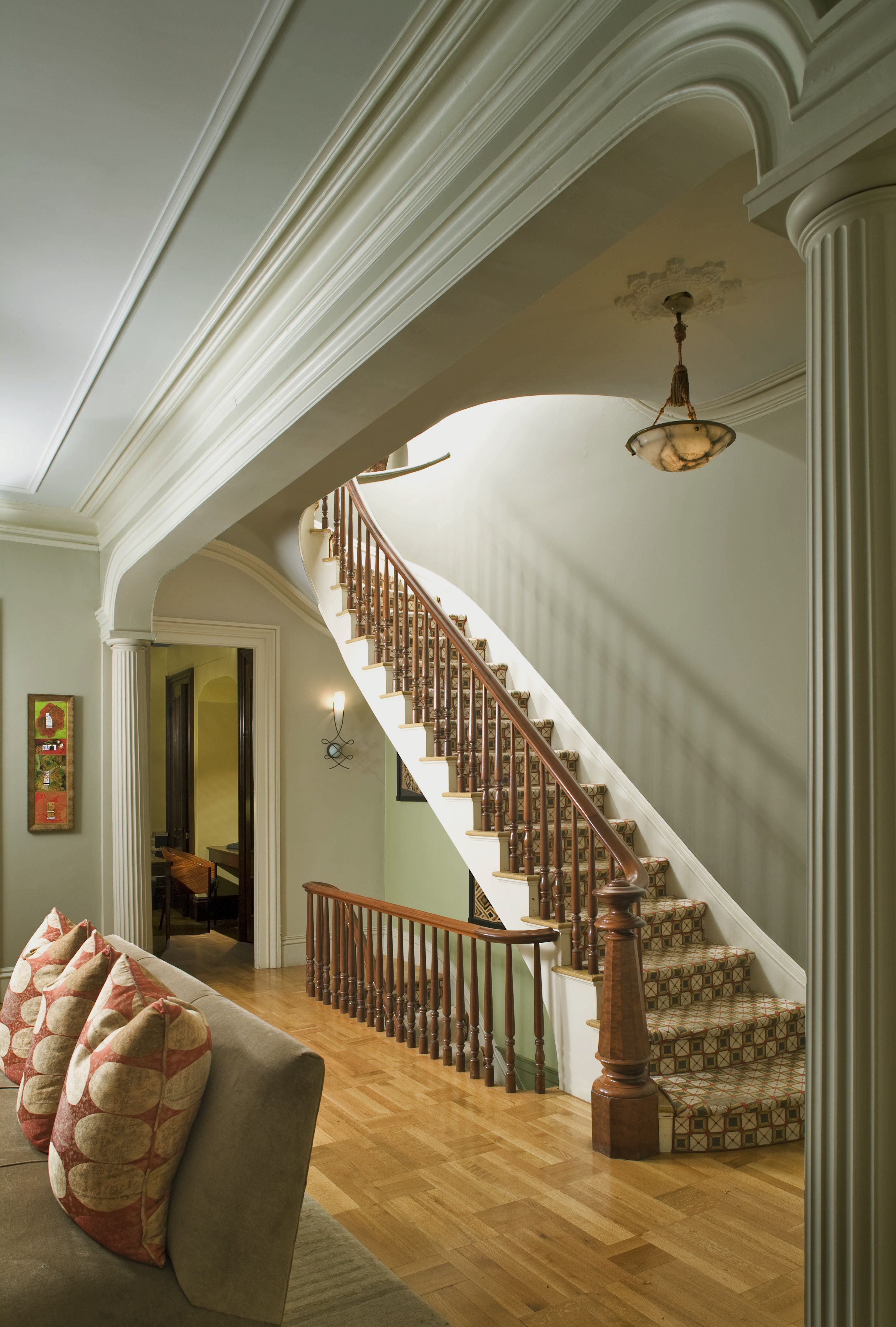 The Parlor Staircase at Clarendon Square Inn