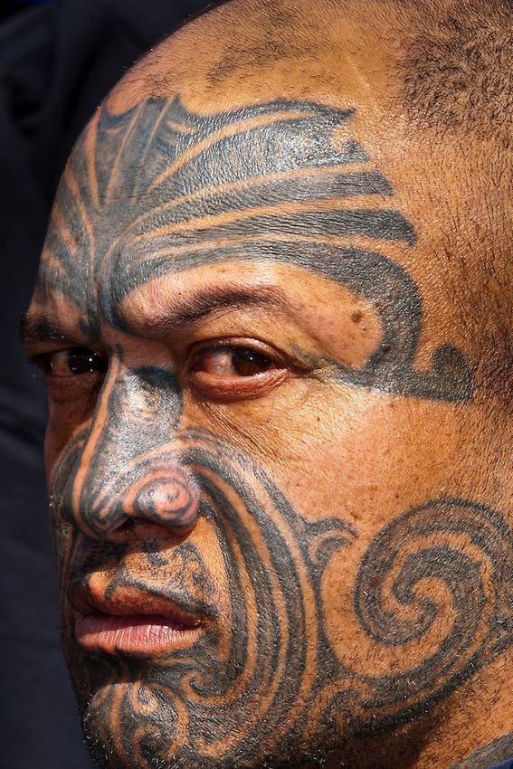 Body Art World Tattoos Maori Tattoo Art And Traditional: Maori Man With Ta Moko (facial Tatoo