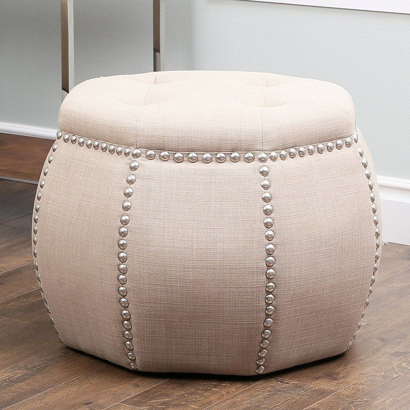 Abbyson living sadie tufted ottoman beige from