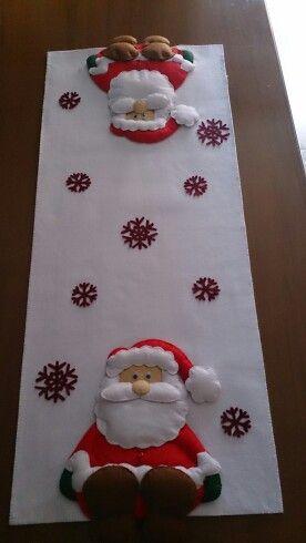 Camino de mesa Papá Noel navidad Pinterest Papá noel, Caminos