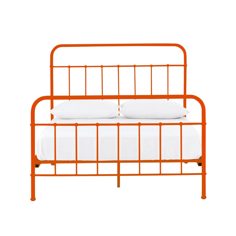 Sunday Tango Orange Bed Frame Domayne Bed Bed Frame Tiny Bedroom