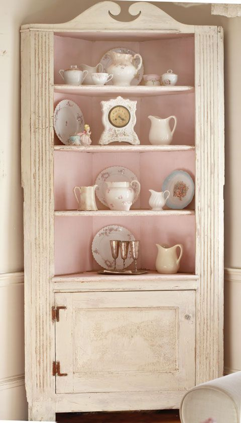 Photo of Pink Shabby Cabinet, Vintage furniture, Shabby Chic
