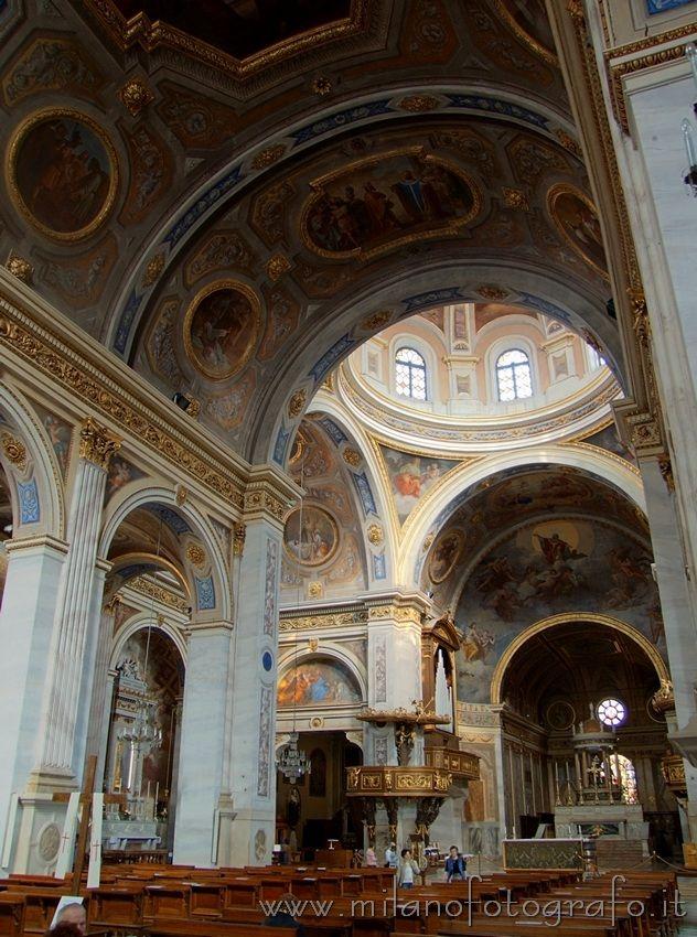 Detail of the interior of the Duomo of Vigevano (Pavia, Italy)