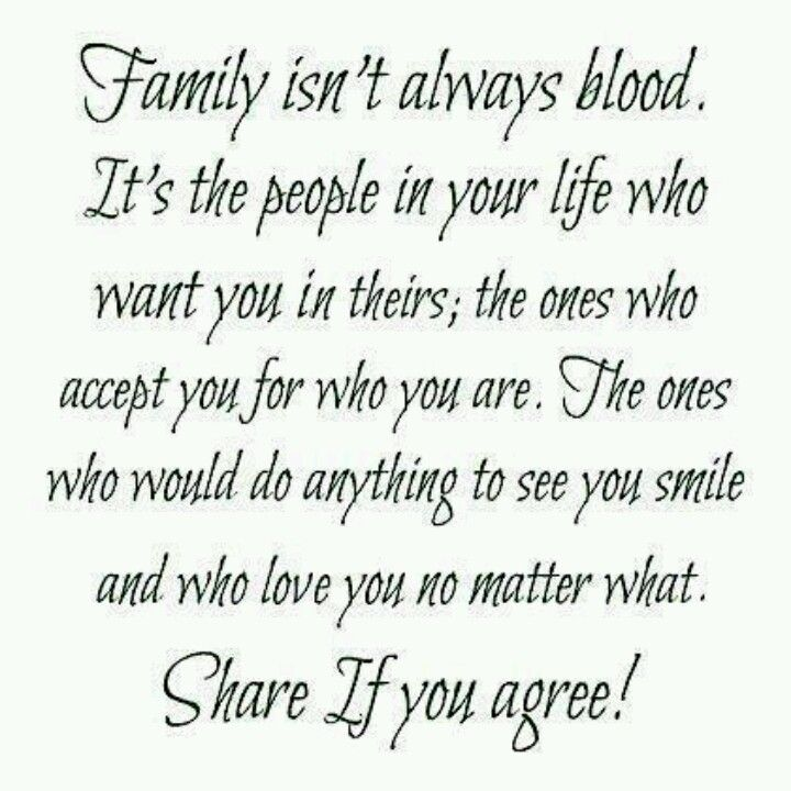 Non Blood Related Family Quotes