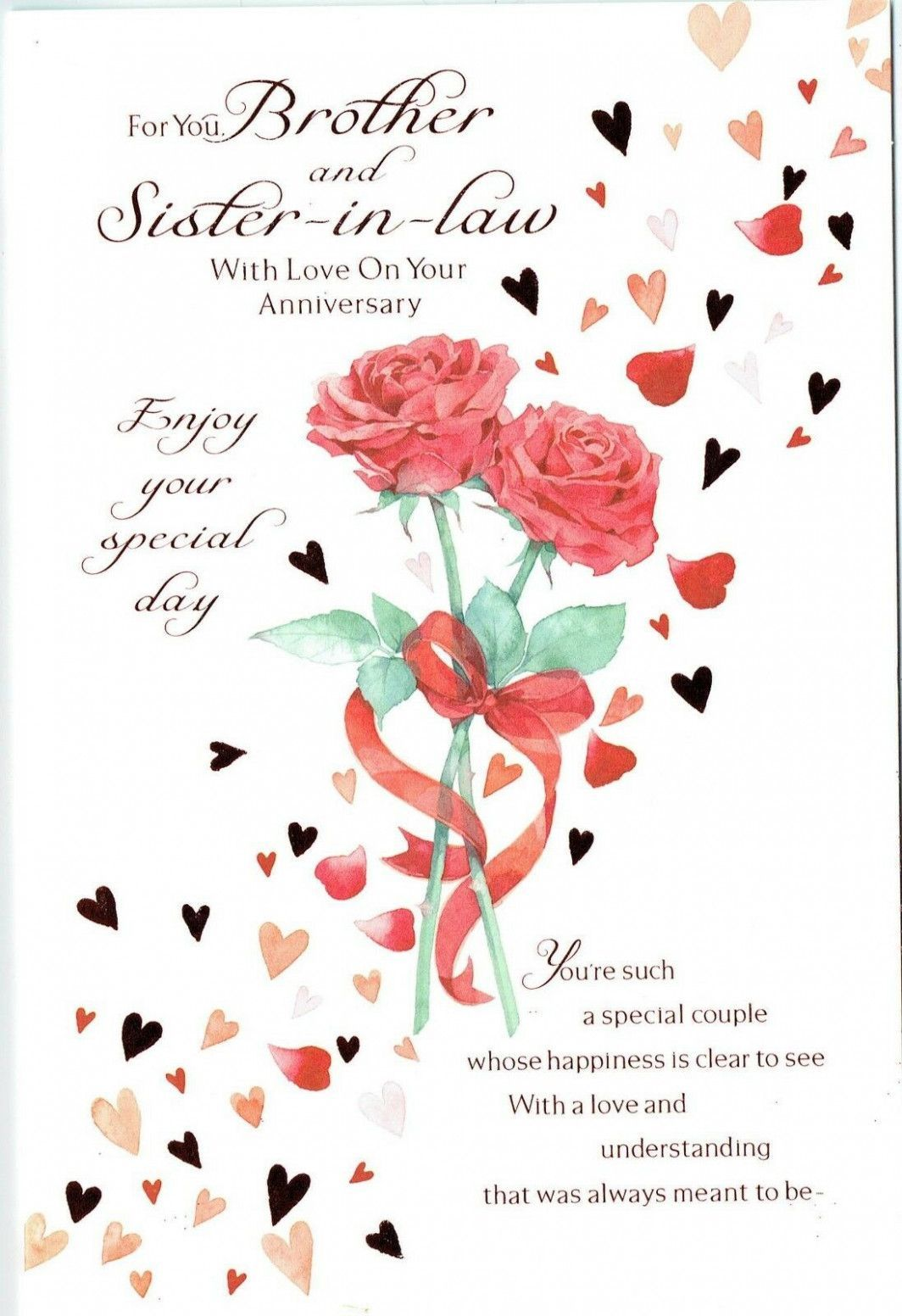 Anniversary Card Verses For Sister And Brother In Law In 2021 Wedding Anniversary Cards Anniversary Cards Anniversary Verses