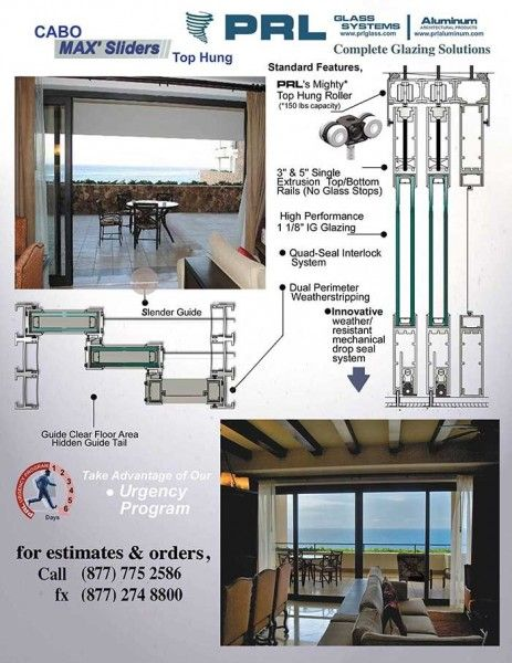 Prl S Cabo Series Top Hung Slider Is Becoming Ever More Popular With Our Customers Our Cabo Aluminum Slidi Slider Door Aluminium Sliding Doors Aluminium Doors