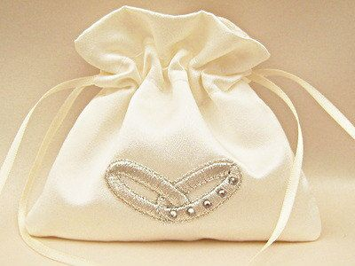 Swarovski Wedding Ring Bag Ring Pouch Bag by debbiehowe1 on Etsy