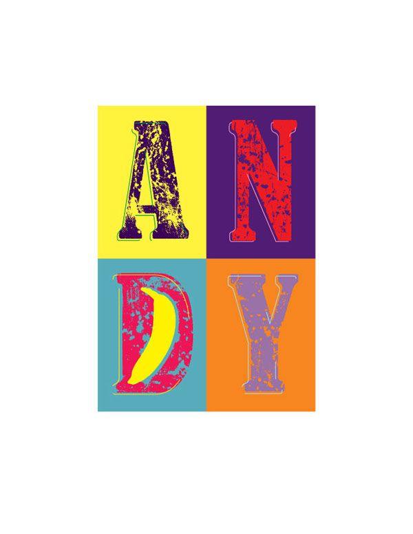 Typographic representation of Andy Warhol's Art