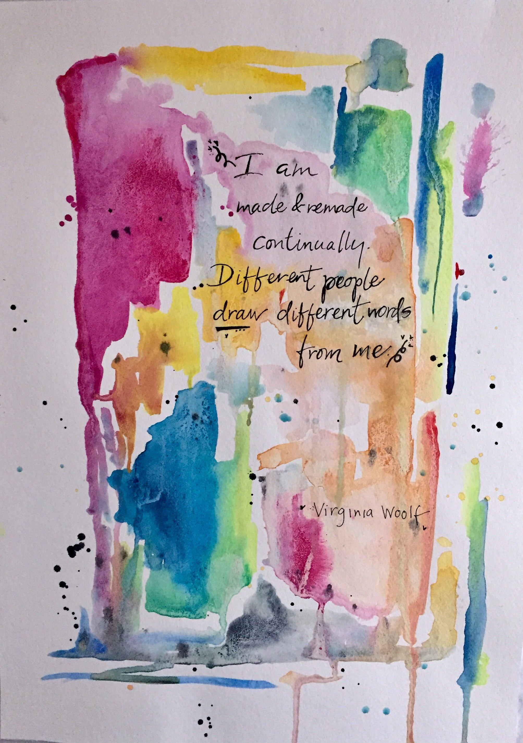 Bold Unique Original Affordable Watercolor Painting Hand
