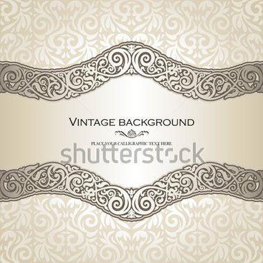 Vintage background, elegance antique, victorian, floral ornament ...