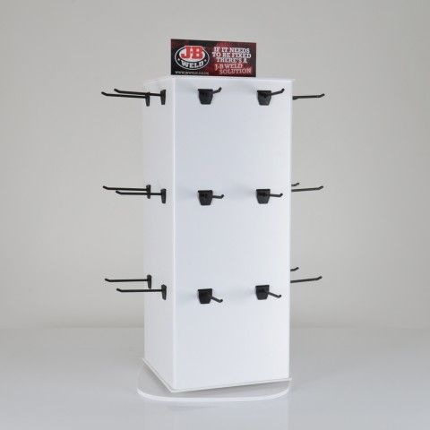 Rotating counter top display stand for retail shop display/ Designed