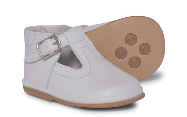 Baby Boys White T-Bar Shoe | Oren