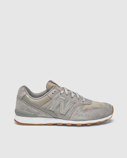 Zapatillas de serraje de mujer 996 New Balance de color gris