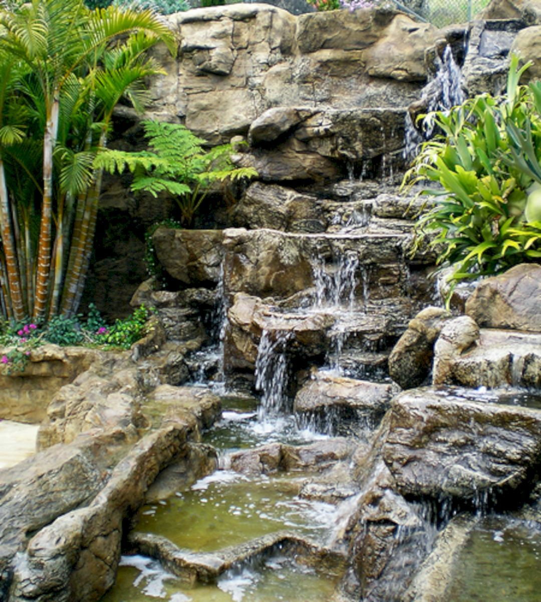 25+ Most Beautiful Rock Garden Waterfalls To Increase Your ... on Rock Garden Waterfall Ideas id=42127