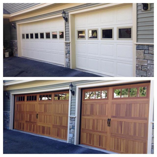 #waybackwednesday  Check out how far garage doors have come in just a couple short years. This CHI accent planks door is a great for people who want the wood look but not the wood maintenance. #ohd #chi #accentplanks #ohdbtv #garagedoor #garagedooropener #garagedoorrepair #garagedoorinstallation #garagedoorsupplier #commercial #residential #vermont #vt