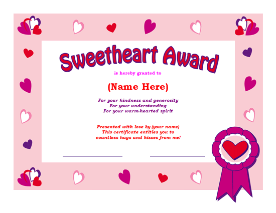 Share the Love MS Office Templates and Printables for Valentines – Uk Share Certificate Template