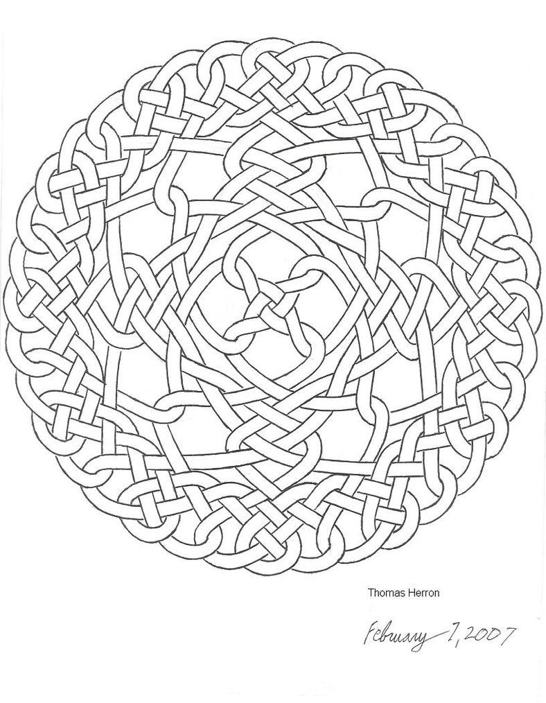 New Celtic Knot By Ceramicsmaster On Deviantart Celtic Coloring Mandala Coloring Pages Pattern Coloring Pages