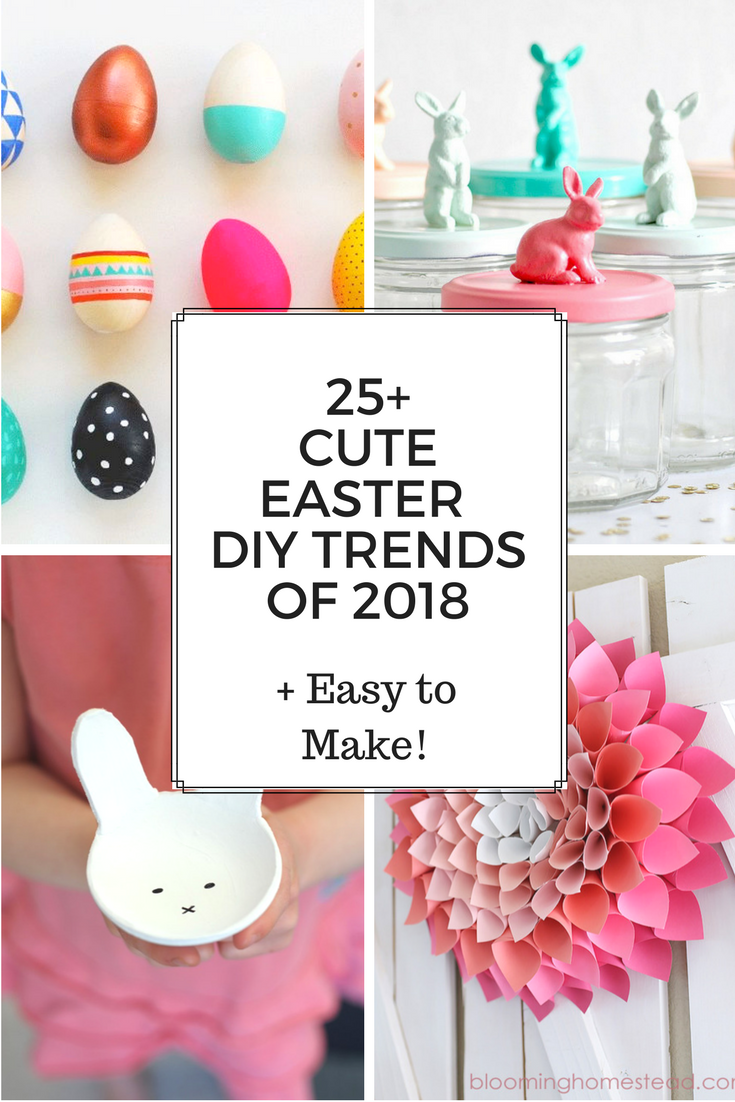 25+ Cute Easter DIY Trends of 2018! | Easter, Holidays and Easter