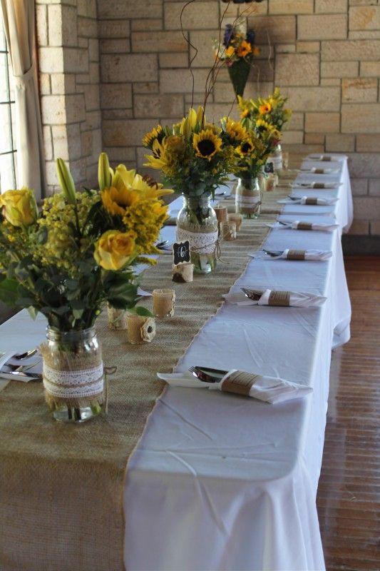 Raven Lodge Huntsville State Park Table Set Up For Wedding