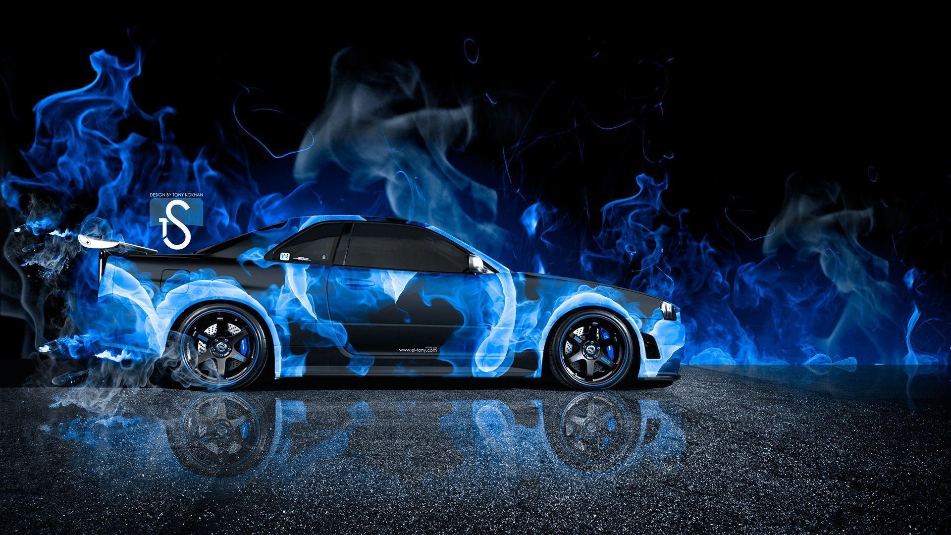 Bon Nissan Skyline GTR R34 JDM Back Water Car 2013 « El Tony | Download  Wallpaper