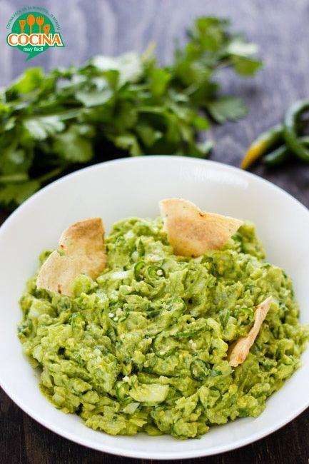 Guacamole. Receta   Cocina Muy Fácil   http://cocinamuyfacil.com