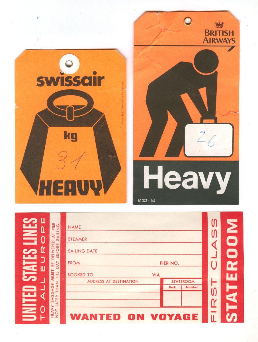 Vintage luggage labels