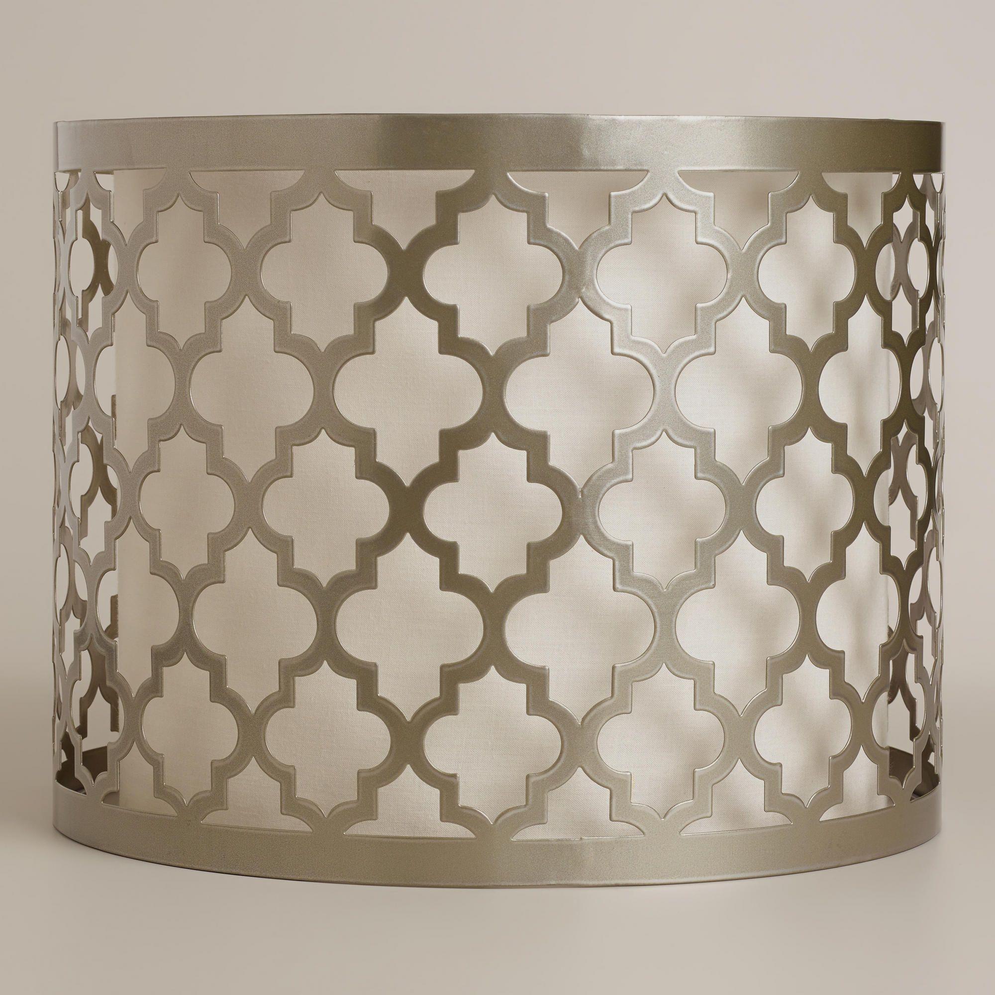 Moroccan Lattice Drum Table Lamp Shade World Market 50 00 This