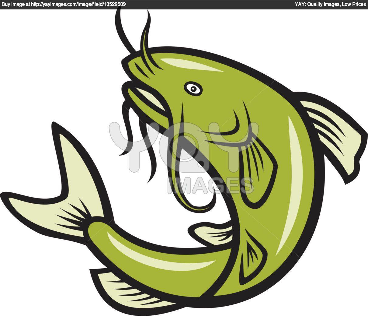 Catfish Cartoon Royalty Free Vector Of Catfish Fish Jumping