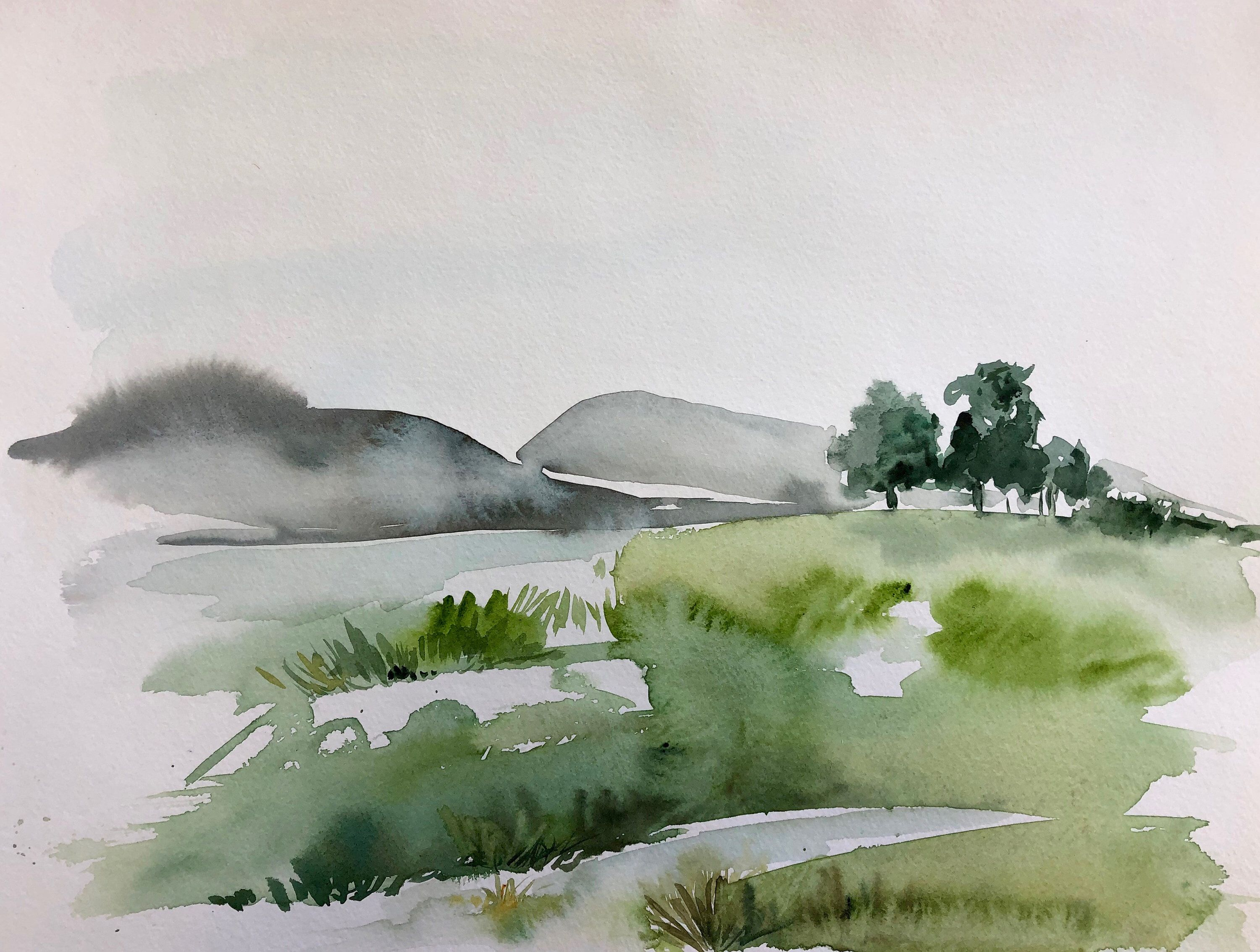 Original Watercolor Landscape Painting Lake District England Etsy In 2020 Watercolor Scenery Watercolor Landscape Paintings Watercolor Landscape