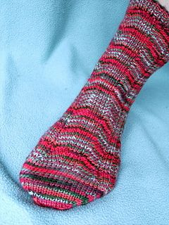 These socks are knit from the top down on two circular ...