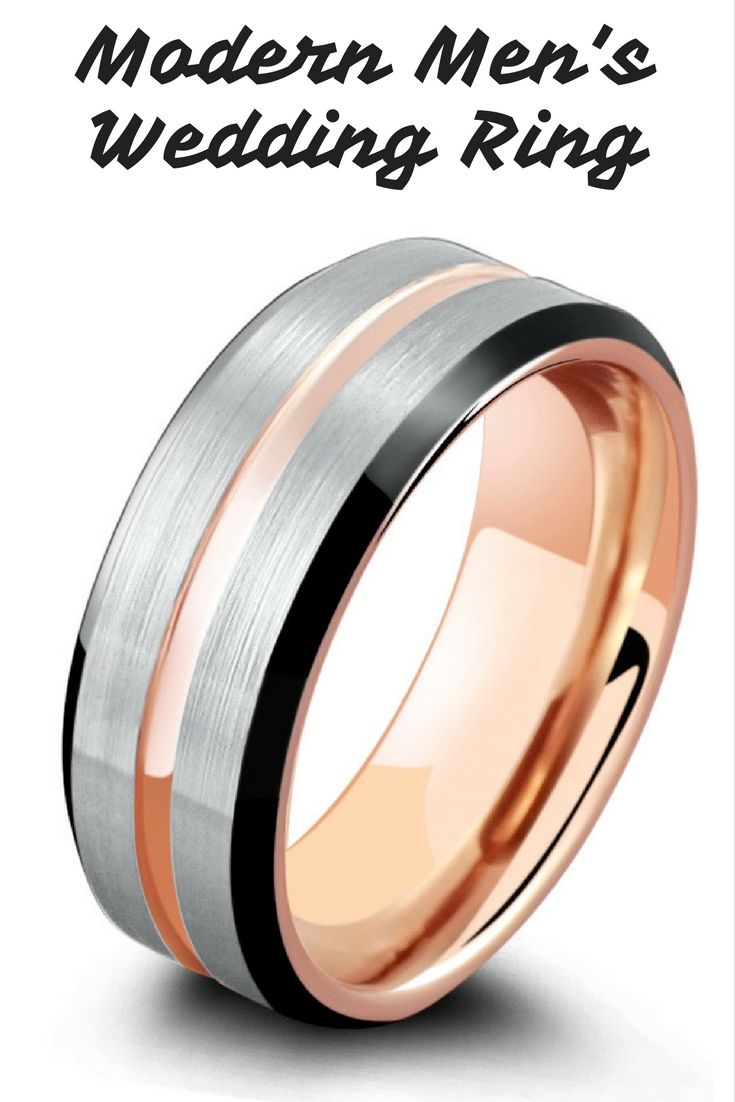 2ffed9b1e1903 Black Beveled Rose in 2019 | Mens Wedding Rings | Tungsten wedding ...