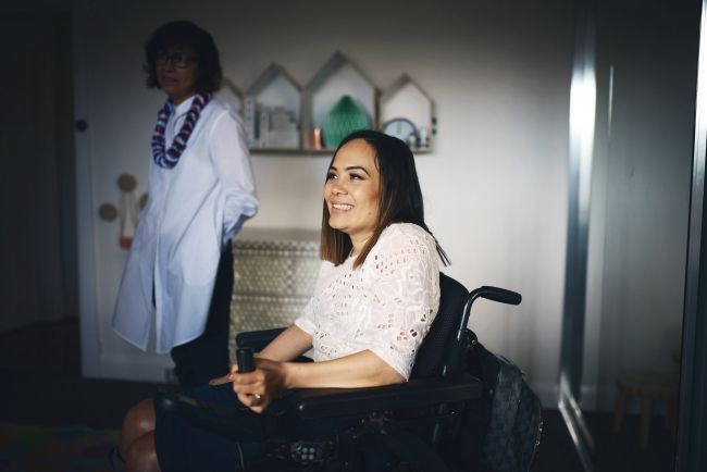Using applications from her smart phone, quadriplegic mother Jos Franciscus, single-handedly redesigned and coordinated her child's nursery. Check out the pictures on the story here