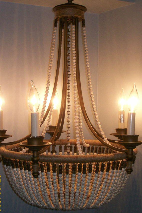 Chandelier Lighting Beaded 5 Light Empire by ManoliDesigns on Etsy ...