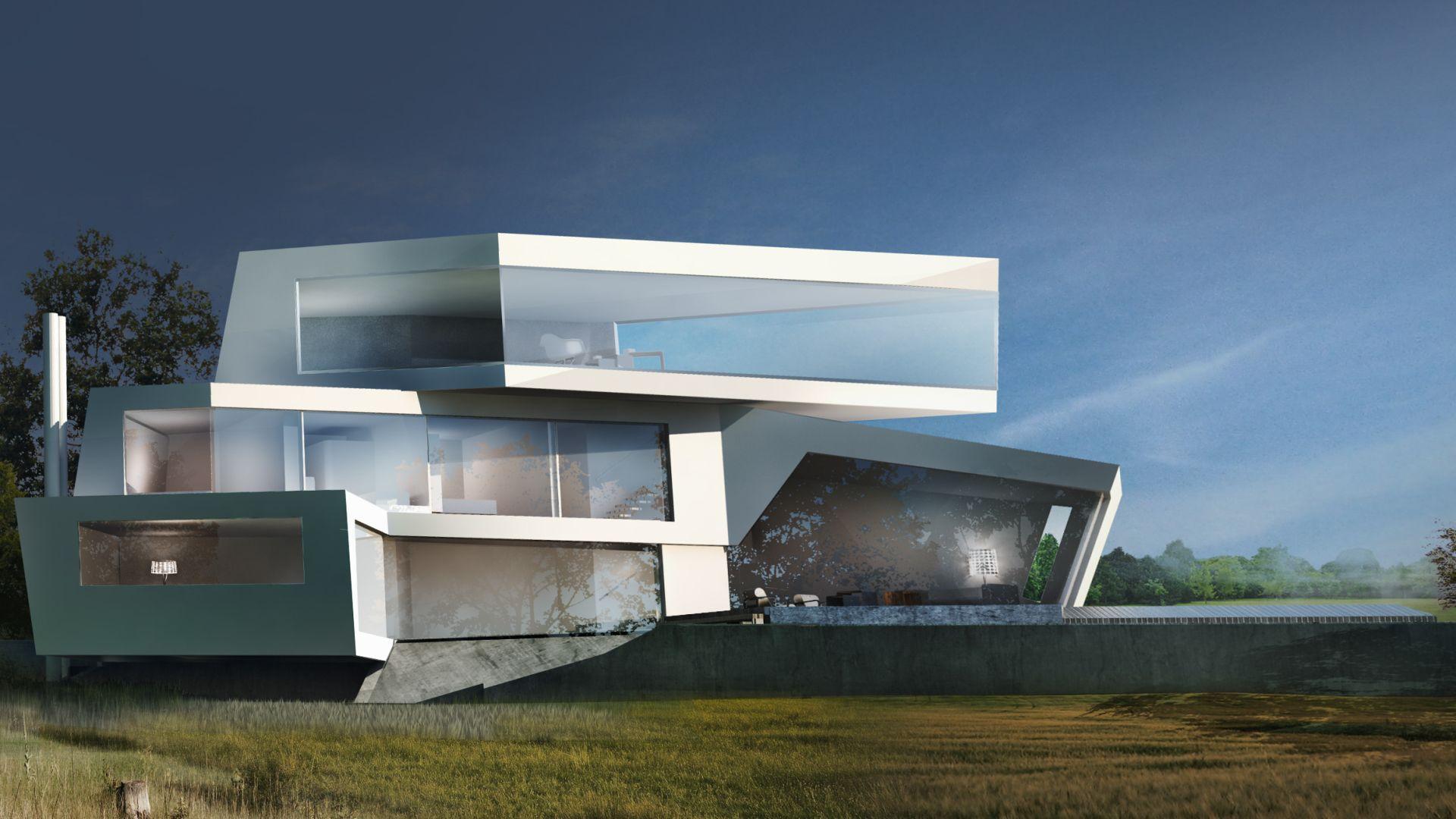 Villa gießhübl expressive architektur architektenhaus architekt haus privathaus niederösterreich