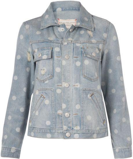 Love this: Light Blue Polka Dot Denim Jacket @Lyst